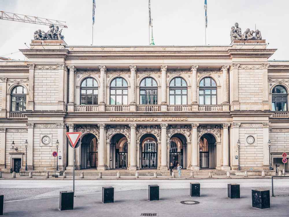 Things to see in Hamburg: The Hamburg Stock Exchange building is one of the must-see sights on this free self-guided walking tour of Hamburg. C: Claudio Divizia/shutterstock.com