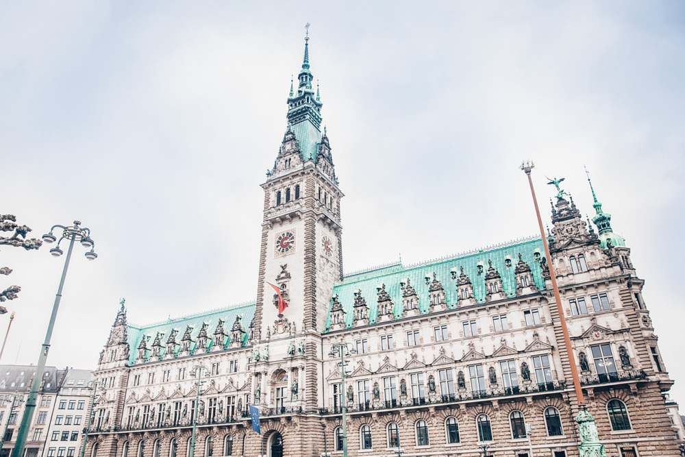What to do in Hamburg: A visit to the gorgeous Hamburg City Hall is one of the best things to see when sightseeing in Hamburg.