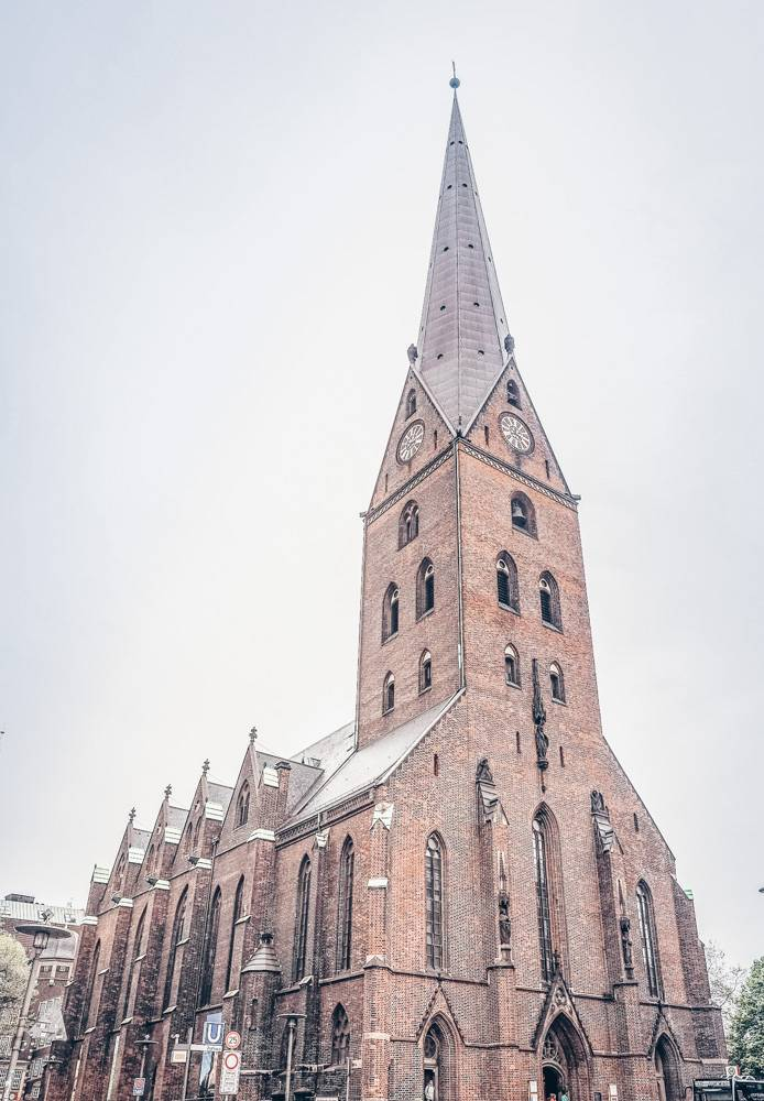 Churches in Hamburg: The St. Peter's Church is one of the five principal parish churches in Hamburg and one of the highlights of this self-guided Hamburg walking tour,