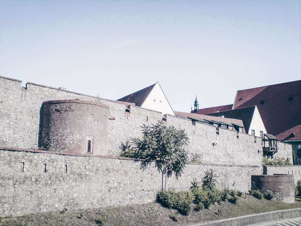 Must-see places in Bratislava: View of the medieval city walls of the Bratislava Old Town. PC: