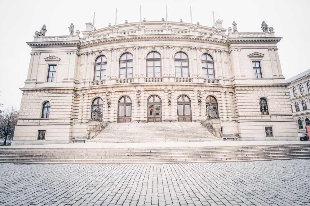 What to see in Prague: View of the Neo-Renaissance style Rudolfinum, home to the Czech Philharmonic orchestra.