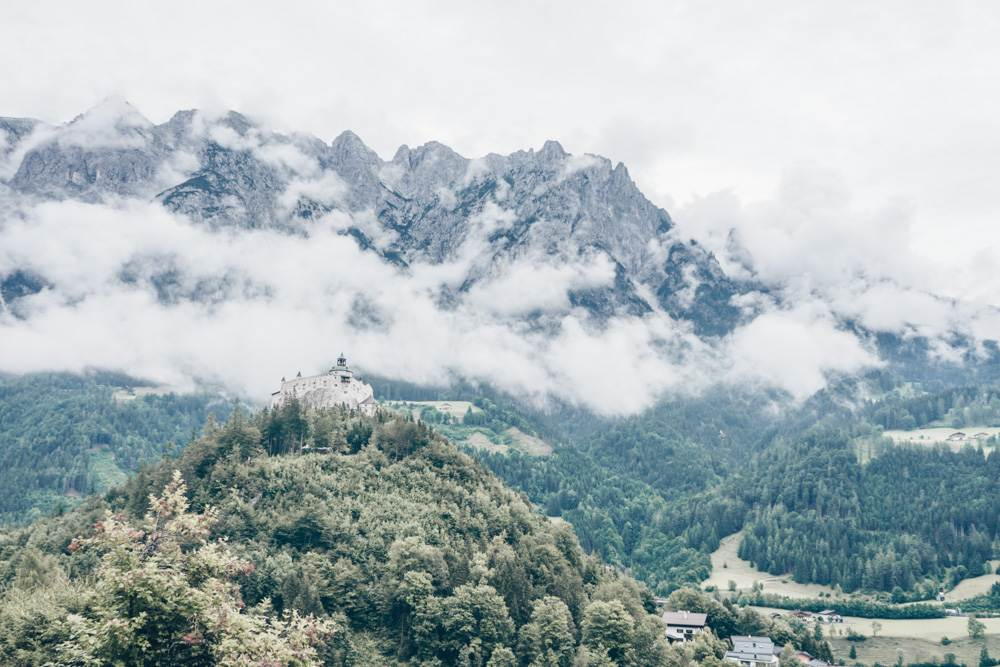 This view of Hohenwerfen Castle appears as one of the Sound of Music filming locations in Salzburg.