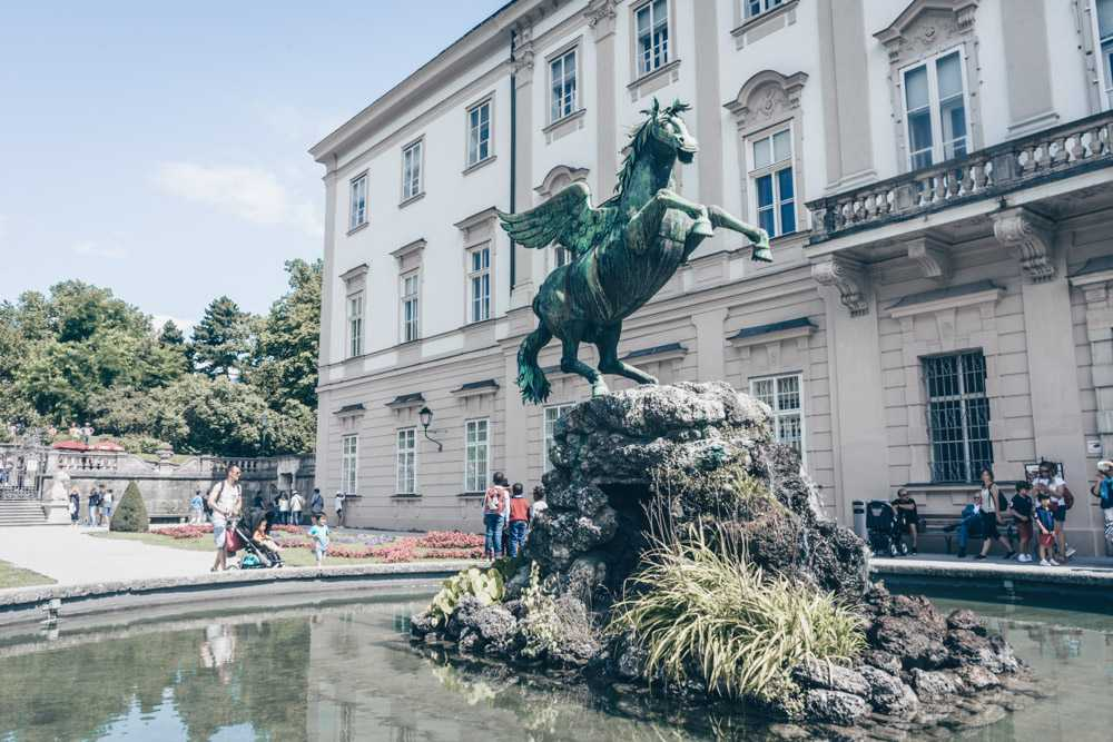 The Pegasus Fountain is one of the Sound of Music locations in Salzburg.