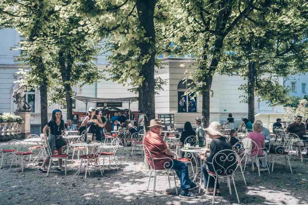 The exteriors of the Marionettentheater in Salzburg.