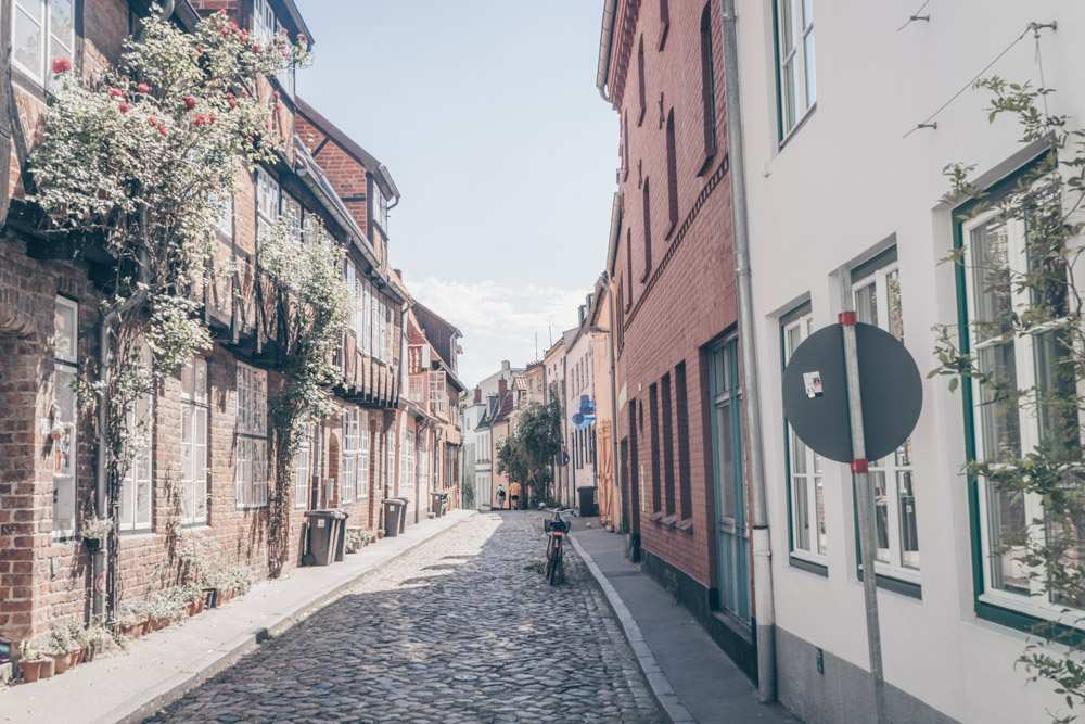 What to do in Lübeck - Half-timbered houses on a small street in the Old Town