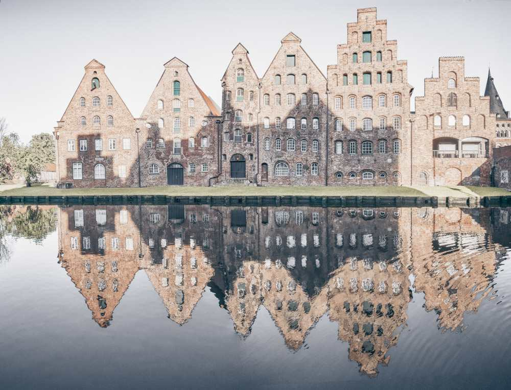 Things to see in Lübeck - The six gabled brick historic salzspeicher (salt warehouses)