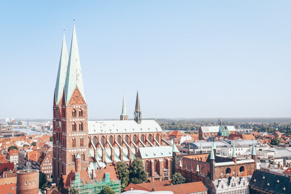 Points of interest in Lübeck - The imposing twin-towered Church of St. Mary (Marienkirche)