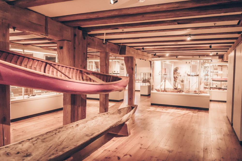 Weekend in Hamburg - Wooden boats and maritime paraphernalia in the International Maritime Museum.