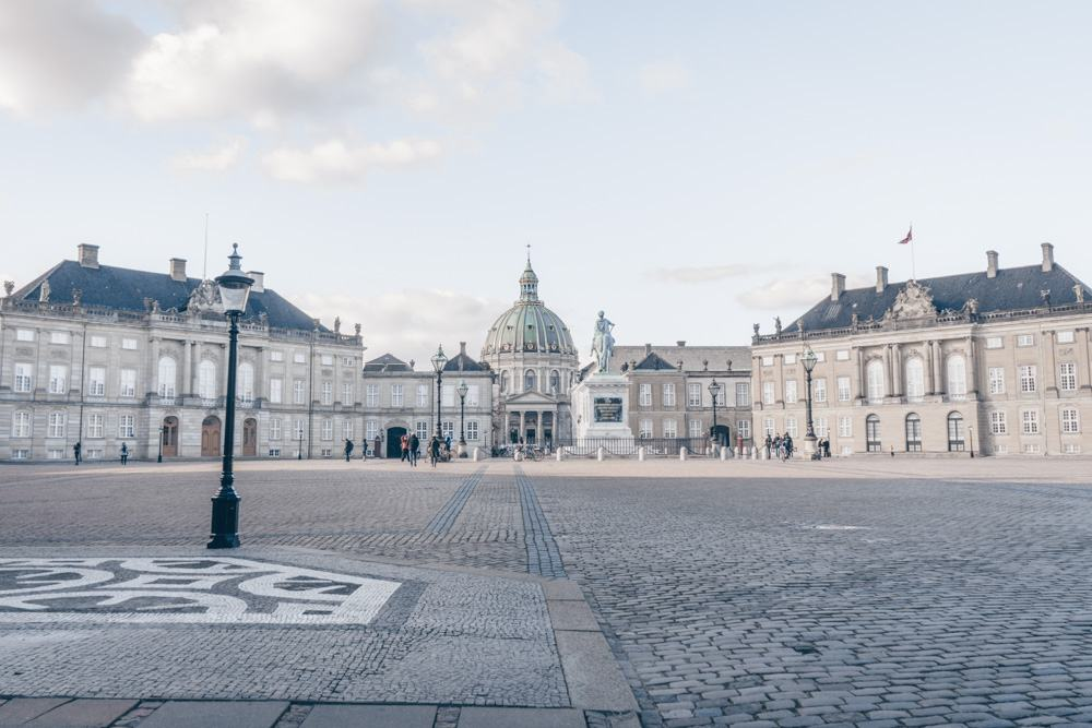 What to do in Copenhagen: Octagonal courtyard of the Amalienborg Palace