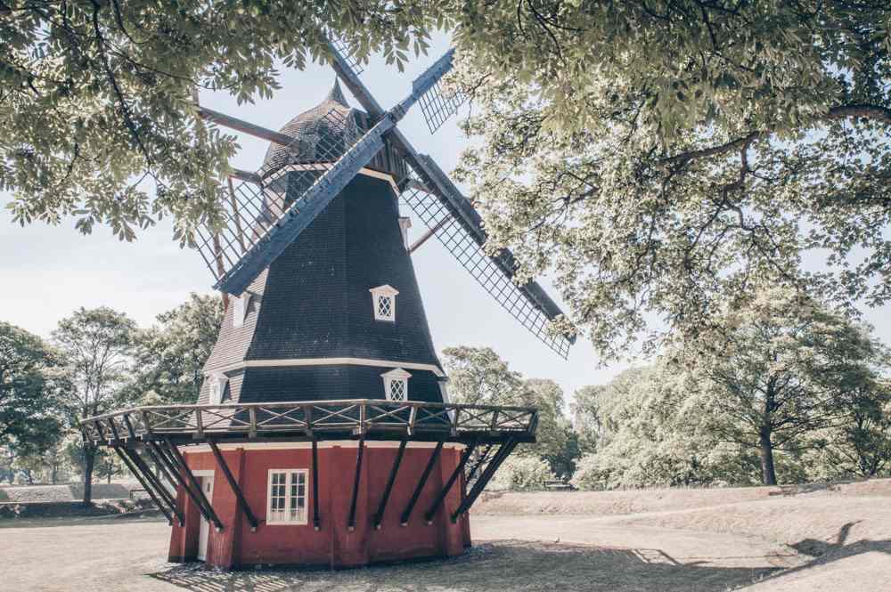 Things to see in Copenhagen: Dutch-style windmill inside Kastellet fortress