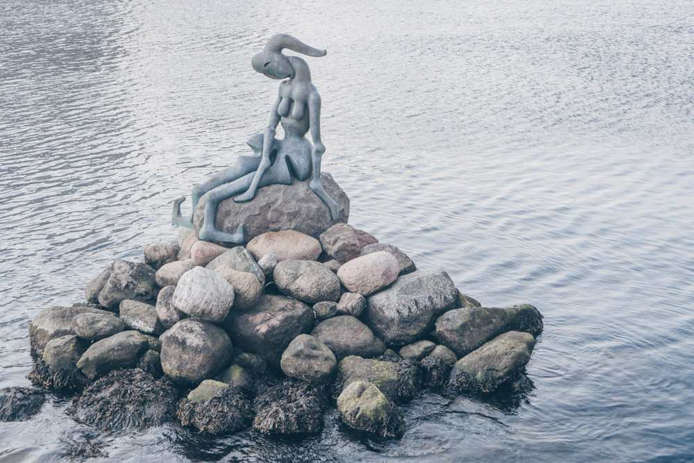 Copenhagen mermaid: The contorted figure of the infamous Genetically Modified Mermaid statue
