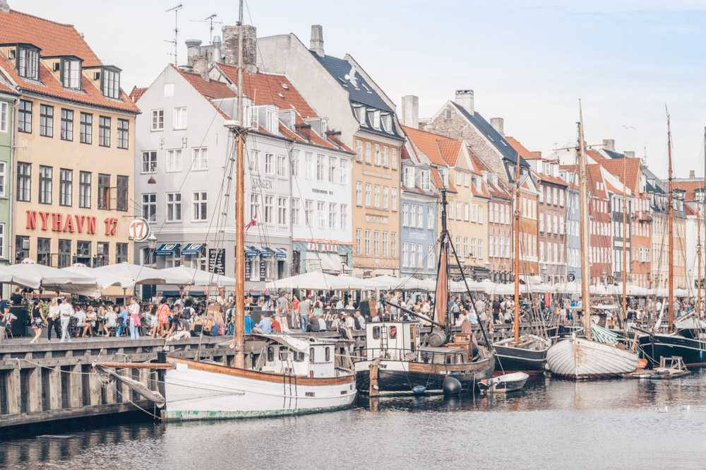 2 Days in Copenhagen: Colorful old townhouses and vessels lining the Nyhavn canal