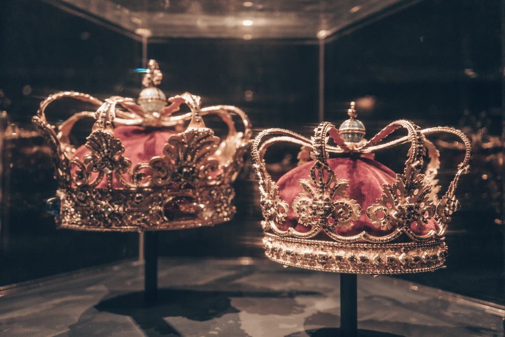 What to see in Copenhagen: The famed crown jewels in Rosenborg Castle.