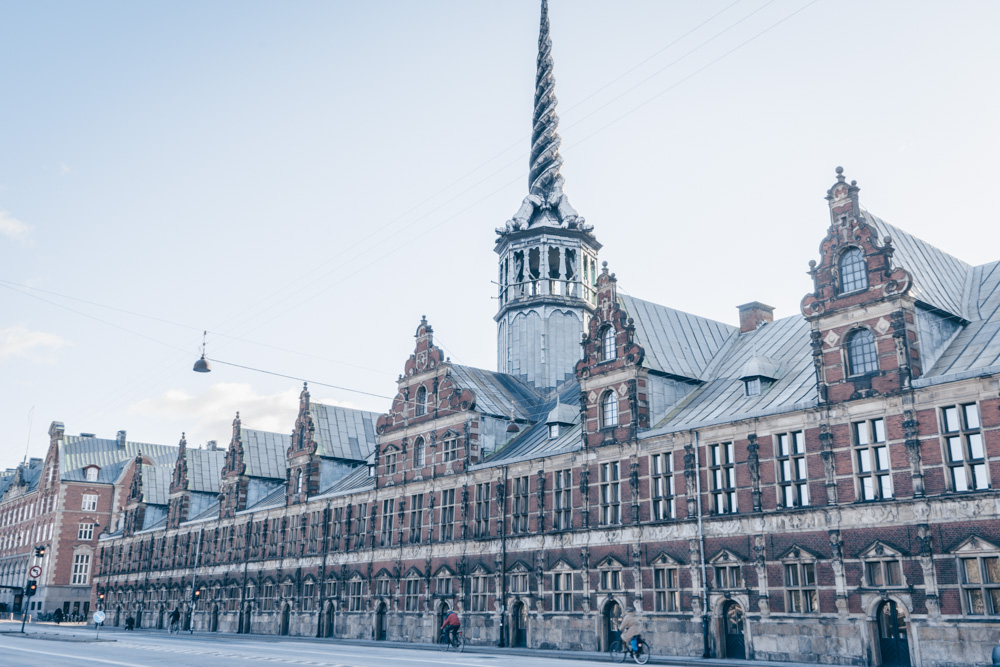 Copenhagen must-see sights: Renaissance facade and gleaming spire of the Old Stock Exchange (Børsen)