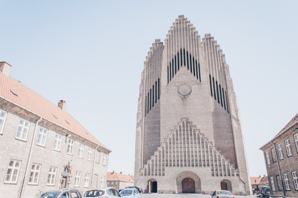 What to see in Copenhagen: The pale-yellow exterior of Grundtvig's Church