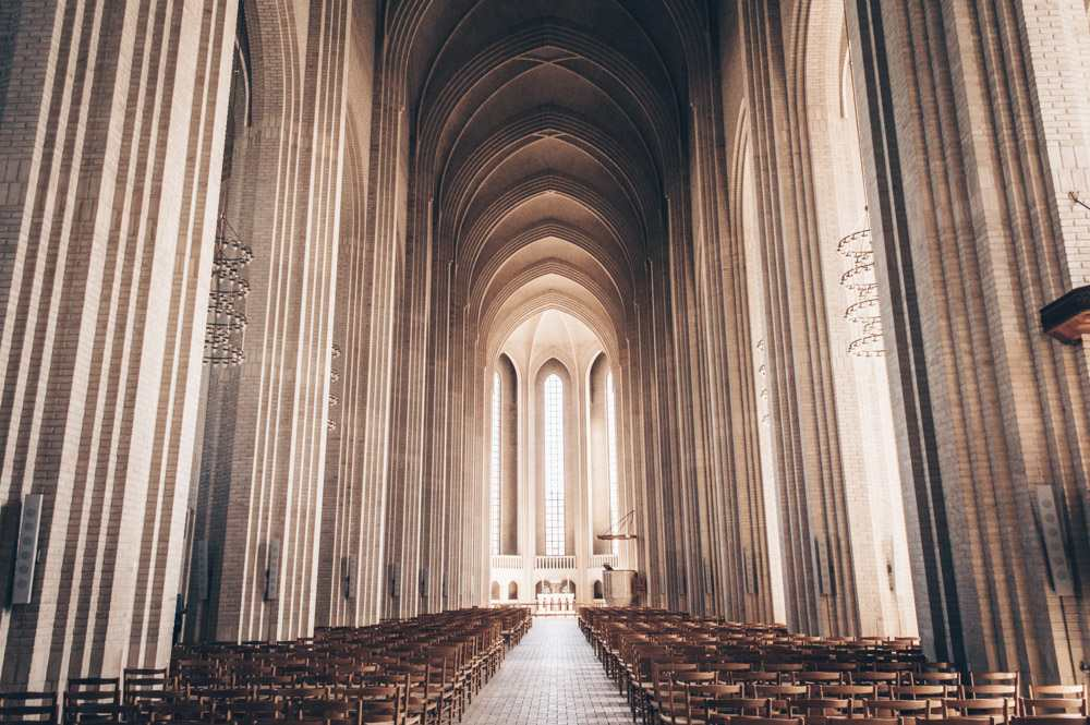 Weekend in Copenhagen: The cavernous and austere interior of Grundtvig's Church