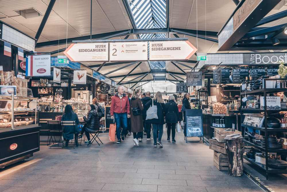 Weekend in Copenhagen: People inside Torvehallerne Food Market
