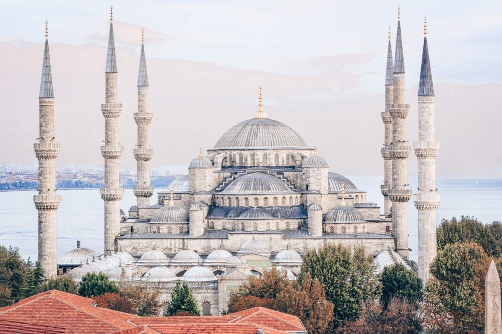 3 Days in Istanbul: The slender minarets and domes of the Blue Mosque.