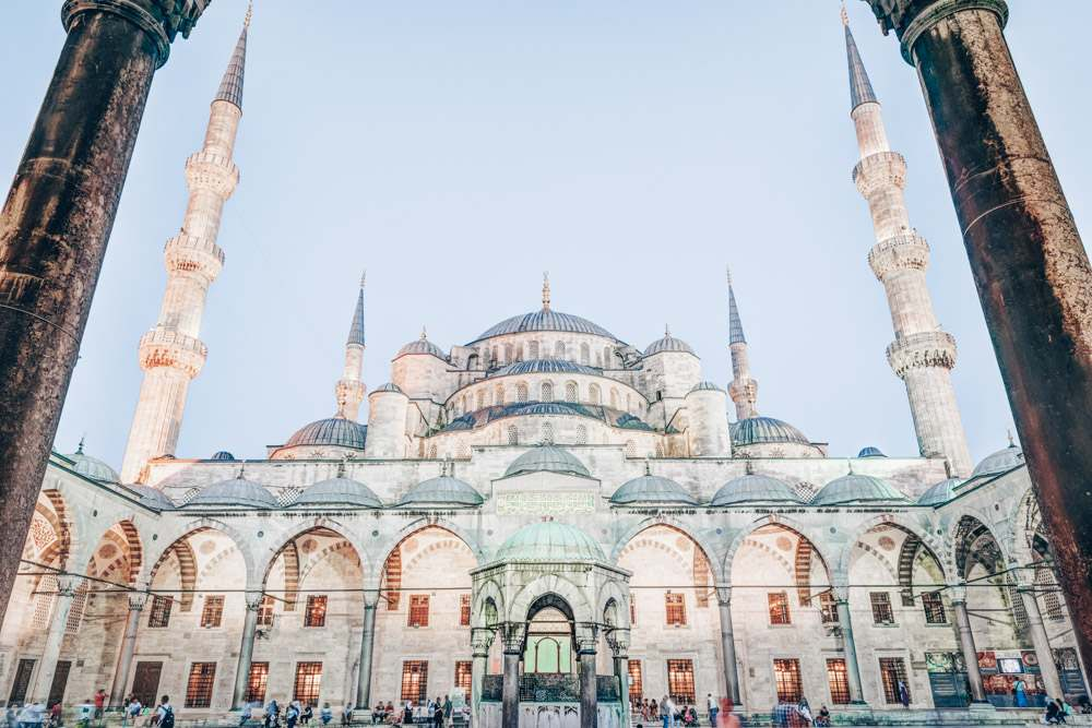 Istanbul Mosques: Courtyard of the Blue Mosque