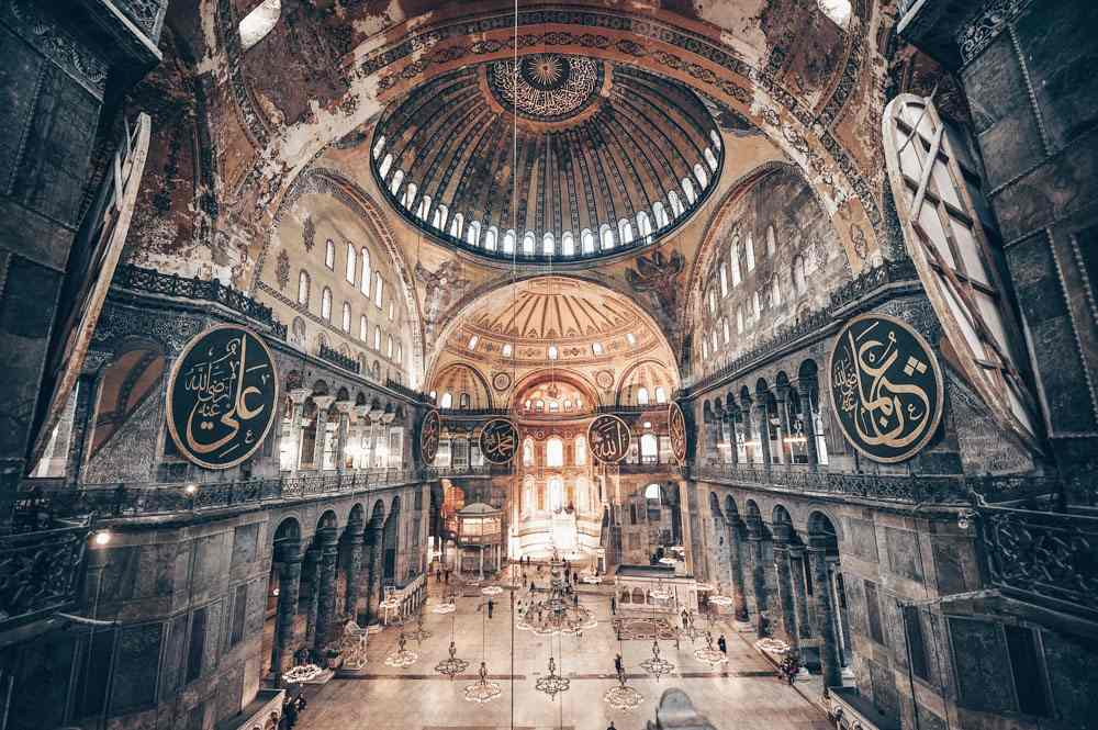 3 Days in Istanbul: The sweeping interior and massive dome of the Hagia Sophia. PC: baucys/shutterstock.com