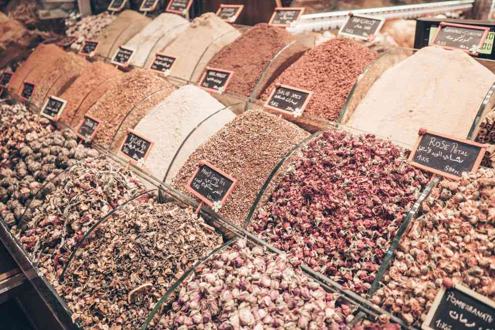 Istanbul Spice Bazaar: An assortment of spices on display.