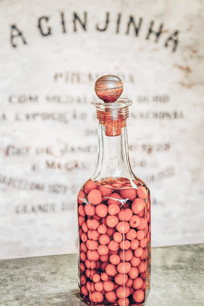 3 Days in Lisbon: A bottle of the cherry infused liqueur Ginjinha. PC: Yasemin Olgunoz Berber/shutterstock.com