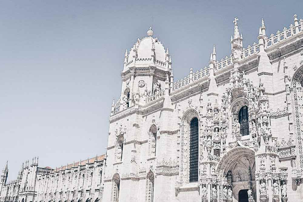Lisbon points of interest: Exterior of the famous Jerónimos Monastery