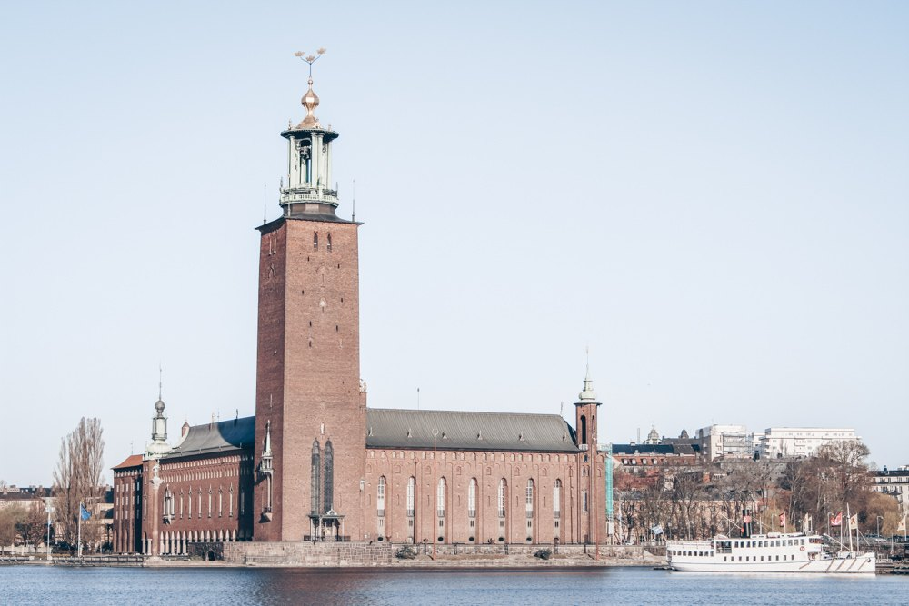 3 Days in Stockholm: View across the lake to the Stockholm City Hall