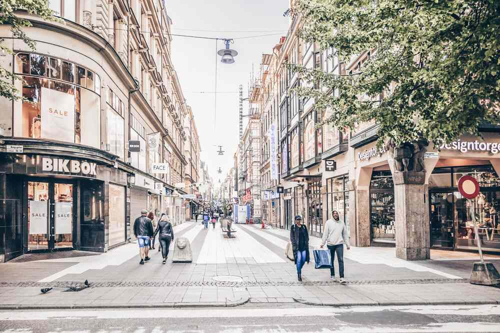 Stockholm attractions: Drottninggatan, one of Stockholm's premier shopping streets