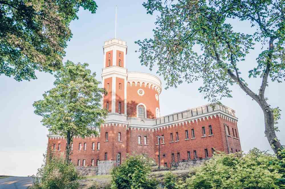 Stockholm attractions: The brick orange Kastellet fortress on Kastellholmen