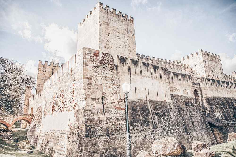 Weekend in Lisbon: Ancient fortifications of the Castle of St. George.