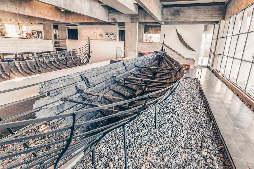 Day Trips from Copenhagen: An old Viking ship at the Viking Ship Museum in Roskilde. PC: RPBaiao/shutterstock.com