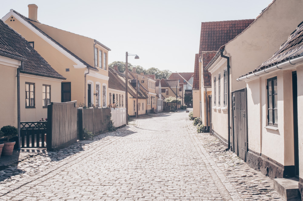 Day Trips from Copenhagen: Beautiful cottages on a cobbled street in Dragør