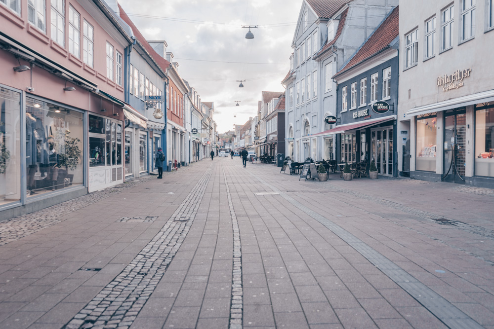 Day Trips from Copenhagen: Quiet pedestrianized street in the old town of Helsingør