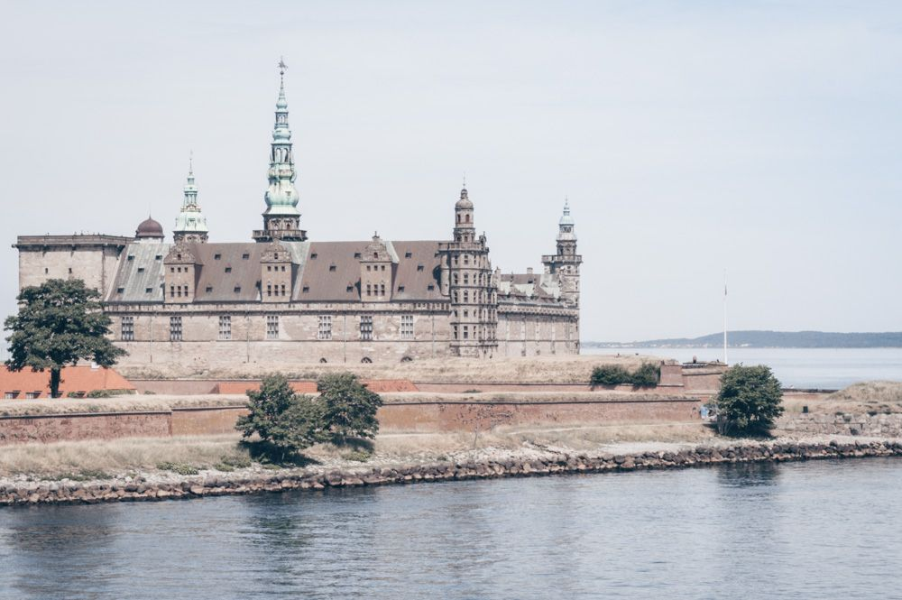 Places to visit in Denmark: The Renaissance exterior of the famous Kronborg Castle (Elsinore Castle)