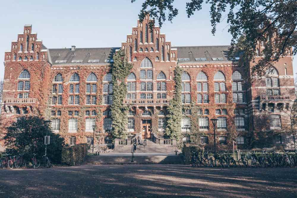 Day Trips from Copenhagen: The ivy-clad facade of Lund University's library building