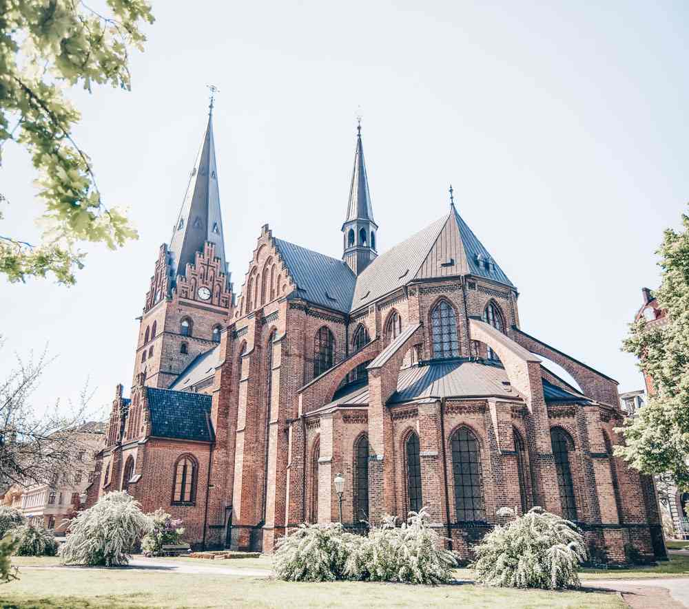 Day Trips from Copenhagen: The imposing red-brick St- Peter's Church in Malmö