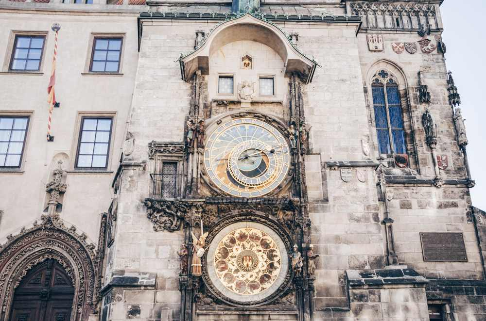 Prague Old Town: The colorful Astronomical Clock
