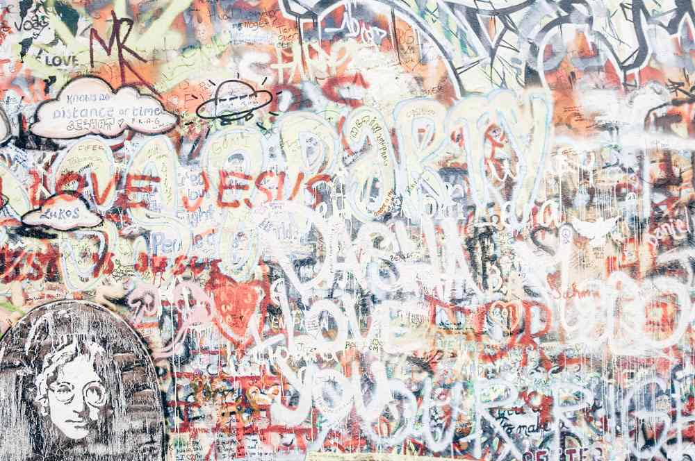 Things to see in Prague: Graffiti scribbled on the Lennon Wall