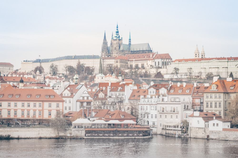 Things to see in Prague: Prague Castle complex from across the River Vltava