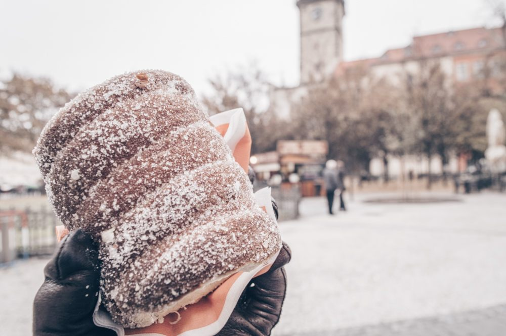 One day in Prague: Trdelnik, a spiral-shaped dough cake sprinkled with sugar and cinnamon