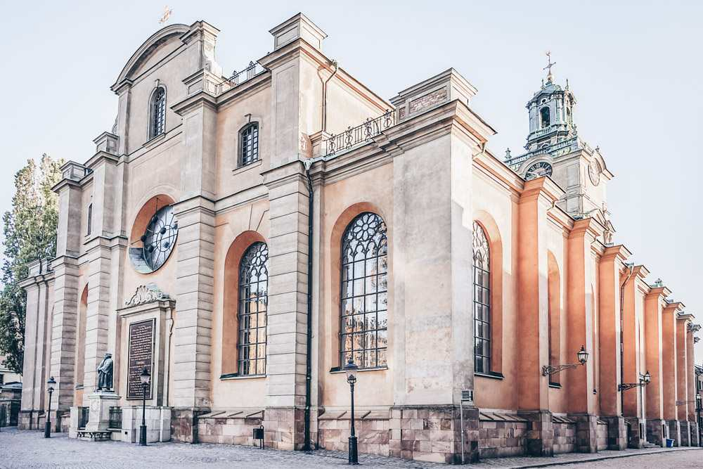 Things to do in Stockholm: Exterior of the Stockholm Cathedral in Gamla Stan