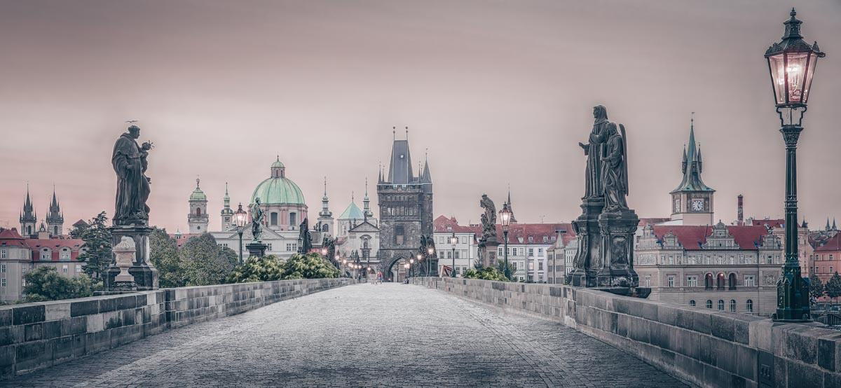 Things to see in Prague: The iconic Charles Bridge at sunrise