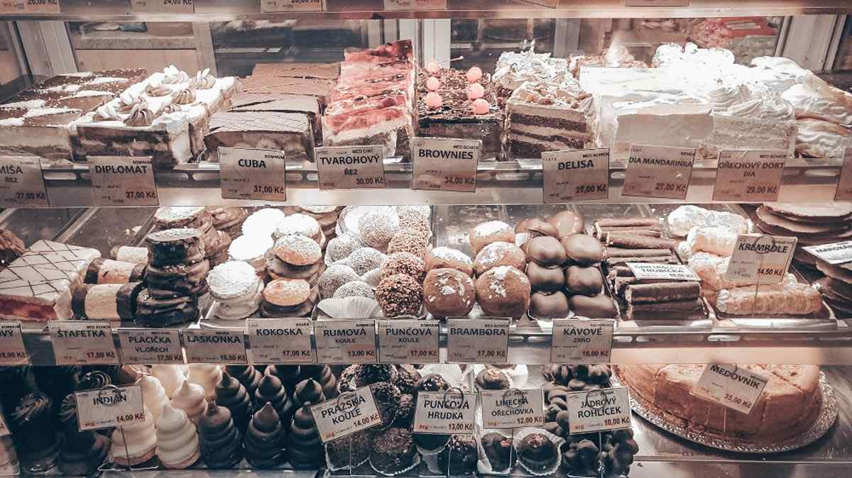 What to eat in Prague: Traditional Czech pastries at a bakery