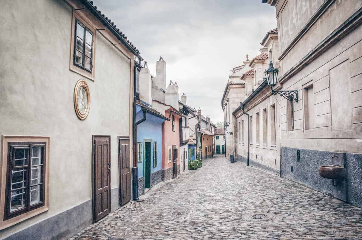 Instagrammagable Prague: Small, brightly painted historic houses of Golden Lane.