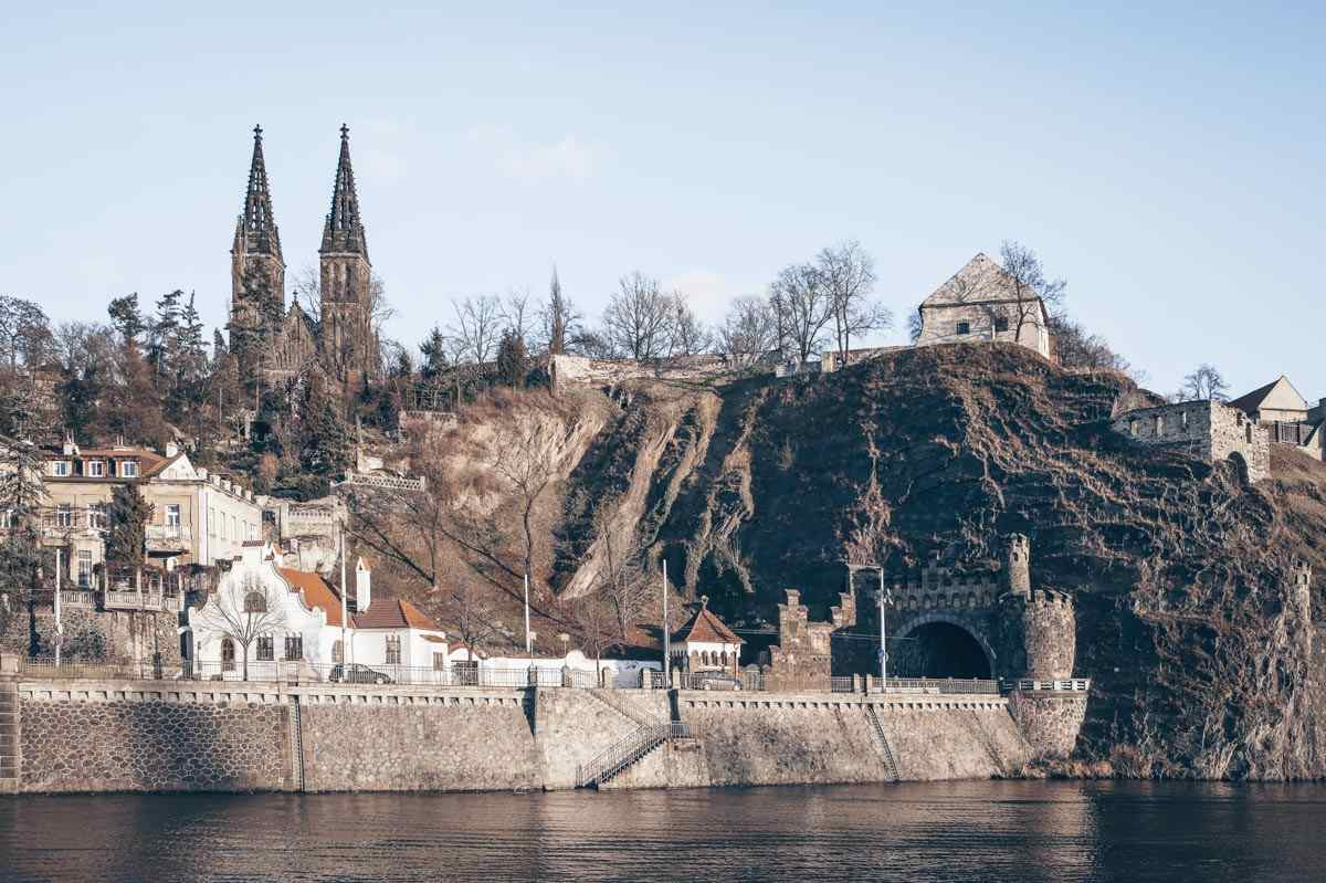 What to see in Prague: The imposing Vysehrad Fortress overlooking the Vltava River