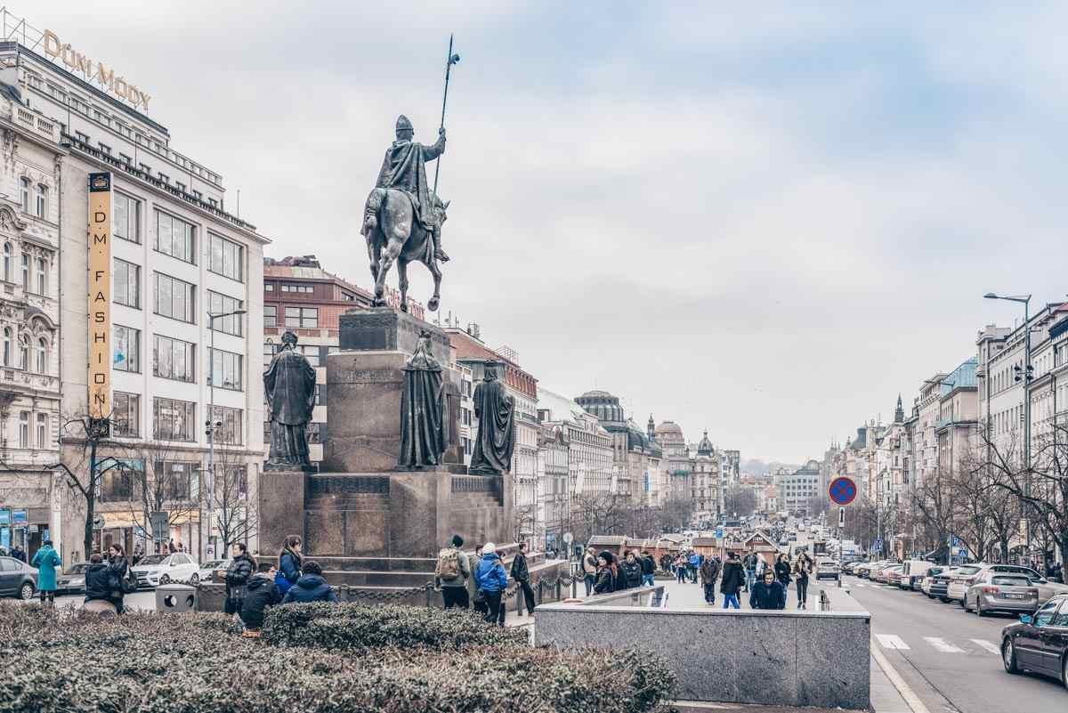 2 Days in Prague: Panoramic view of Wenceslas Square in the New Town. PC: photosounds/shutterstock.com