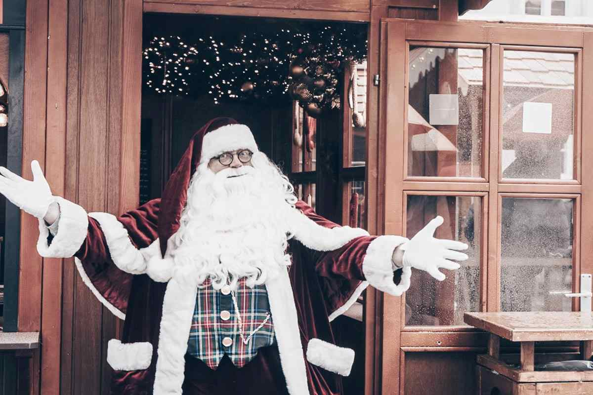 You can visit Santa Claus as the Christmas markets in Copenhagen
