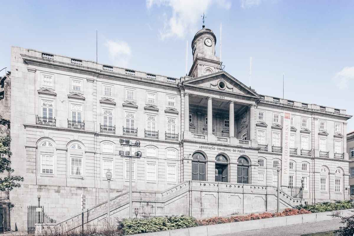 Must-see attractions in Porto: Vast Neoclassical facade of Palacio da Bolsa