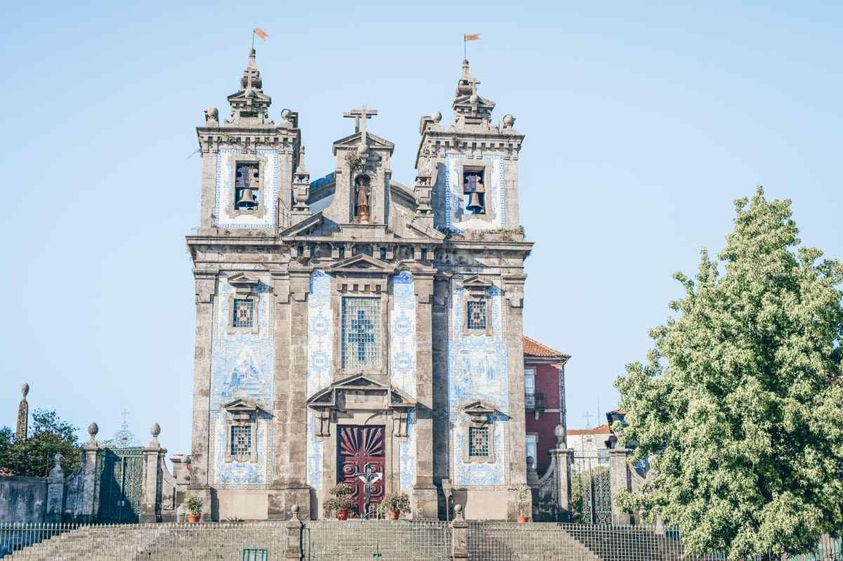 Things to do in Porto: Beautiful azulejos covered exterior of the  Church of St Ildefonso